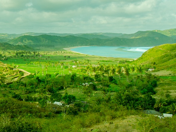 Tampah Hill View overlooking Tampah Bay in South Lombok Indonesia