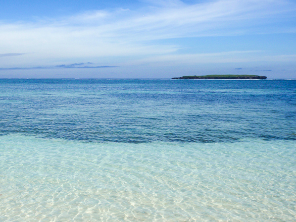 Beachfront land for sale. Cemara Beachfront Land Lombok Indonesia on the beach