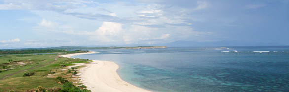 Beachfront land for sale. Cemara Beachfront Land Lombok Indonesia clear water